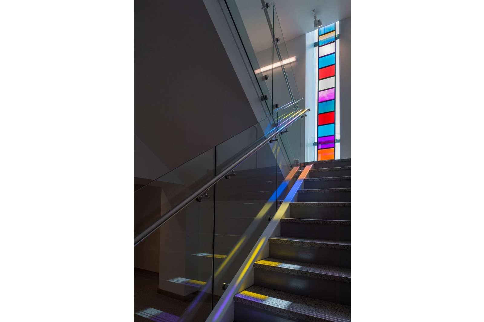 Stephen Dean, Ladder descending a staircase, 2014. Photo: Nash Baker