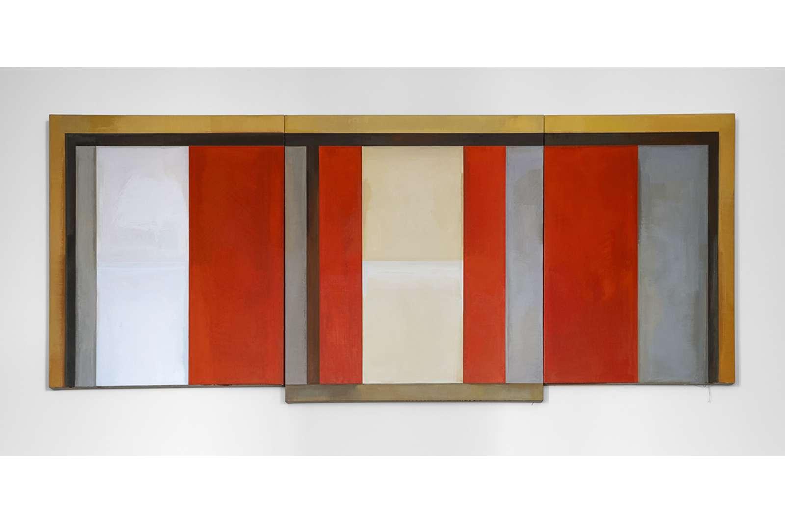 David Novros, Untitled, 1975-76.Oil on Canvas. Photo by Nash Baker.