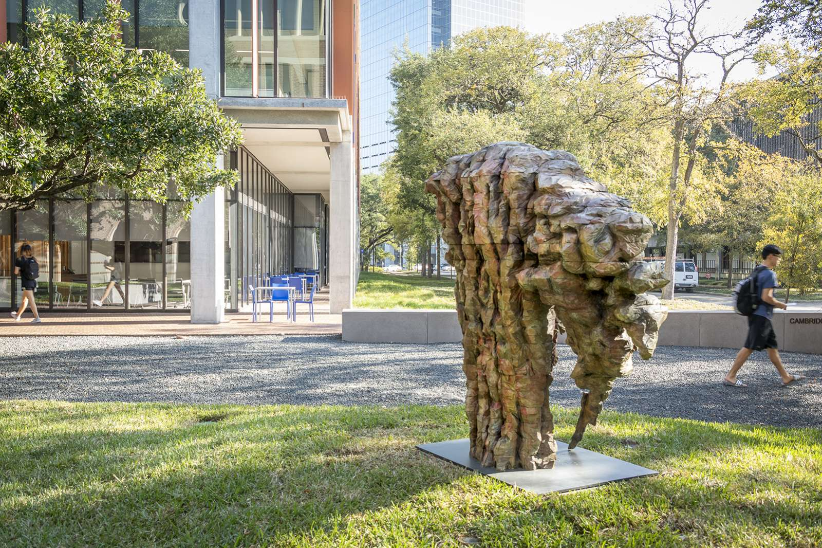 Ursula von Rydingsvard, Malutka II, 2018. Bronze. Photo by Nash Baker.