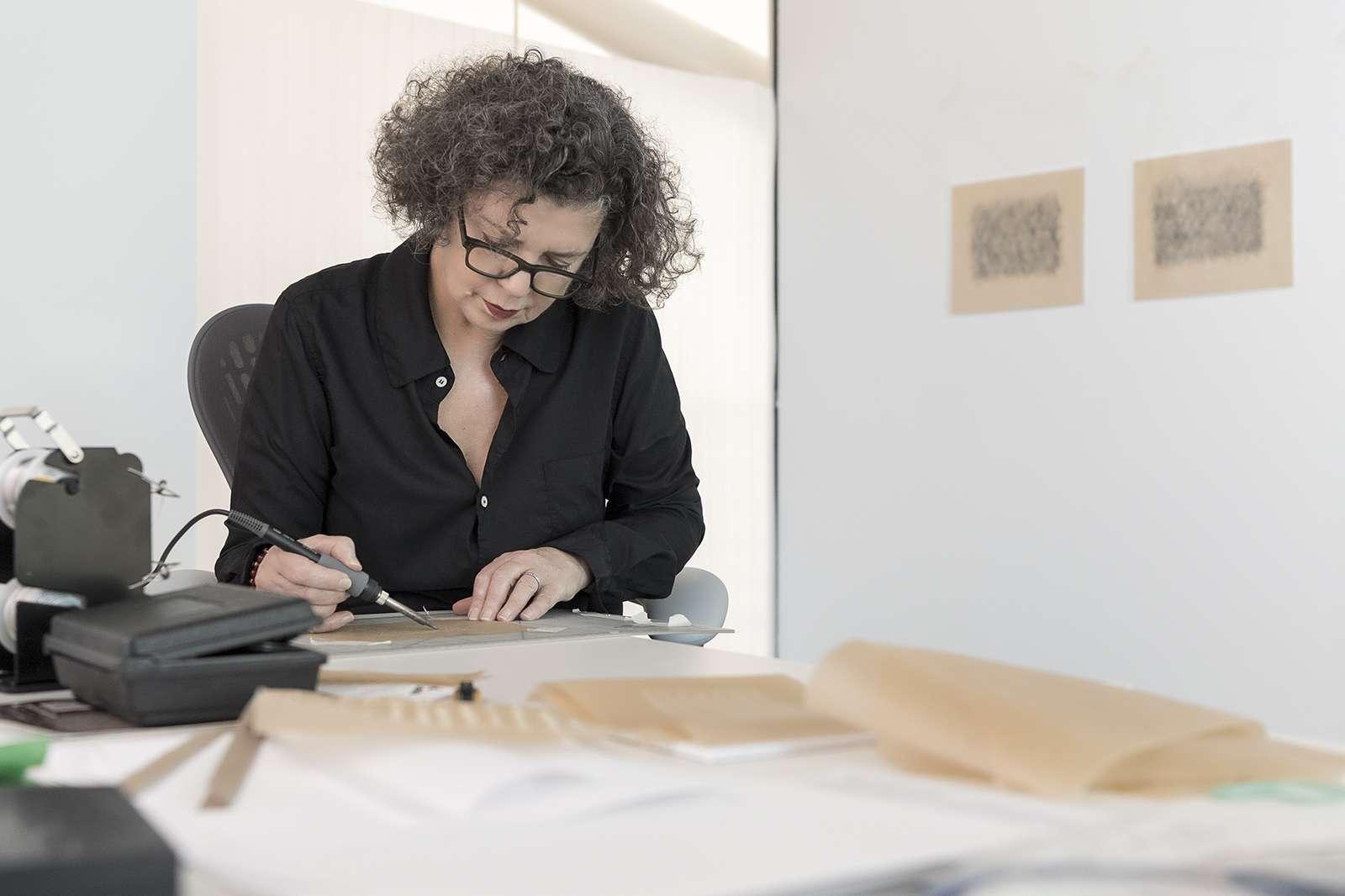 Mona Hatoum at the Moody. Photo: Nash Baker