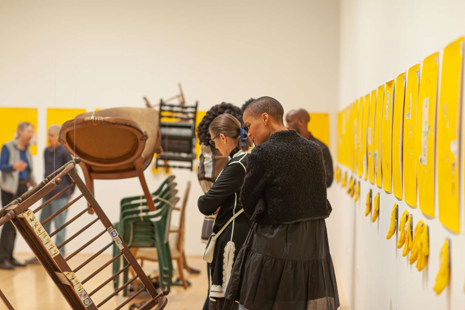 Serge Attukwei Clottey: Softening Borders, Moody Center for the Arts. Photo by Alyson Hunstman.