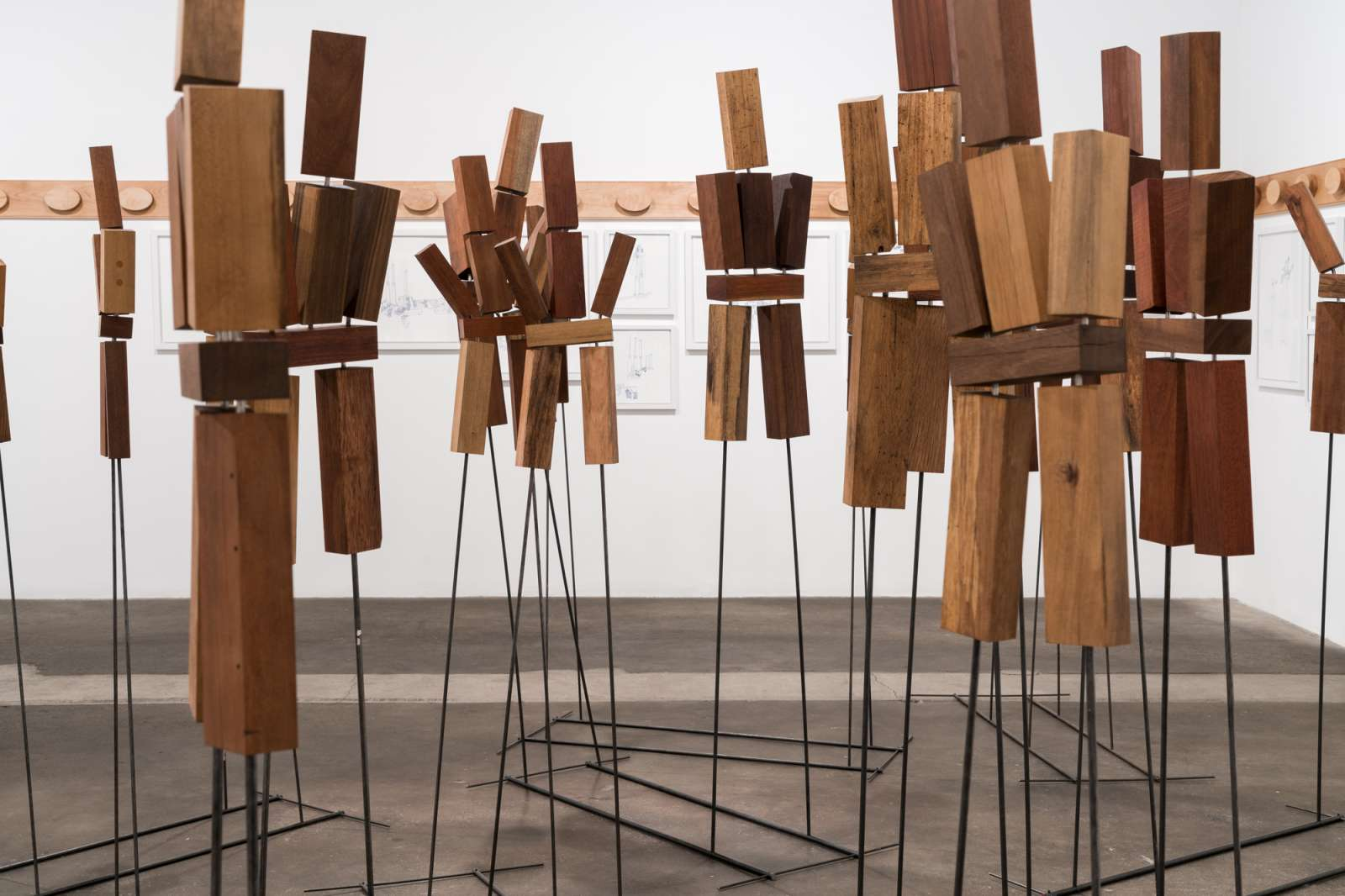 Pile the Wood High!, installation view.  © Midway Contemporary Art. Photo: Caylon Hackwith