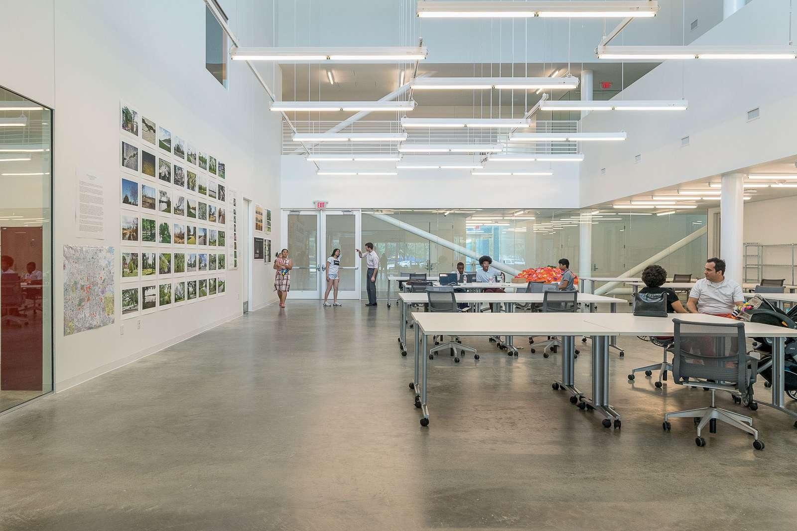 View of the Creative Open Studio. Photo Nash Baker