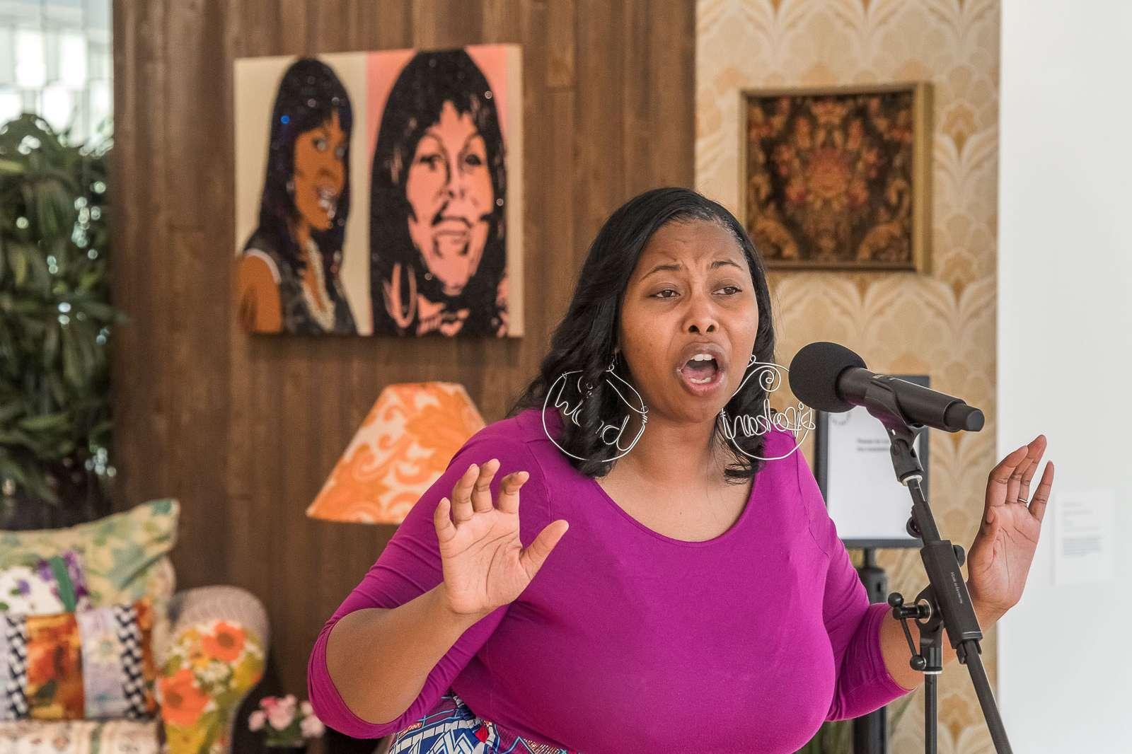 Deborah DEEP Mouton performs at the Moody. Photo: Nash Baker