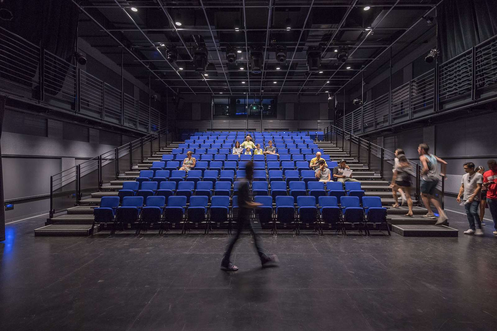 View inside the Lois Chiles Studio Theater. Photo Nash Baker