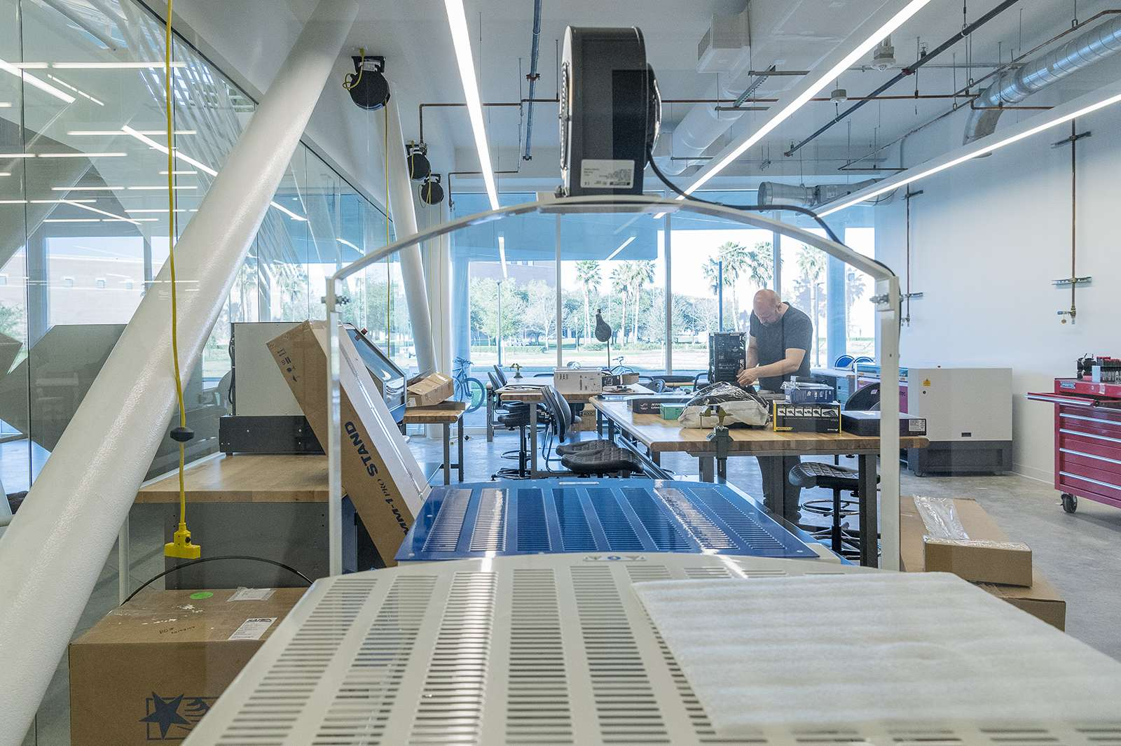 The rapid prototyping shop in the Moody Makerspace area. Photo: Nash Baker