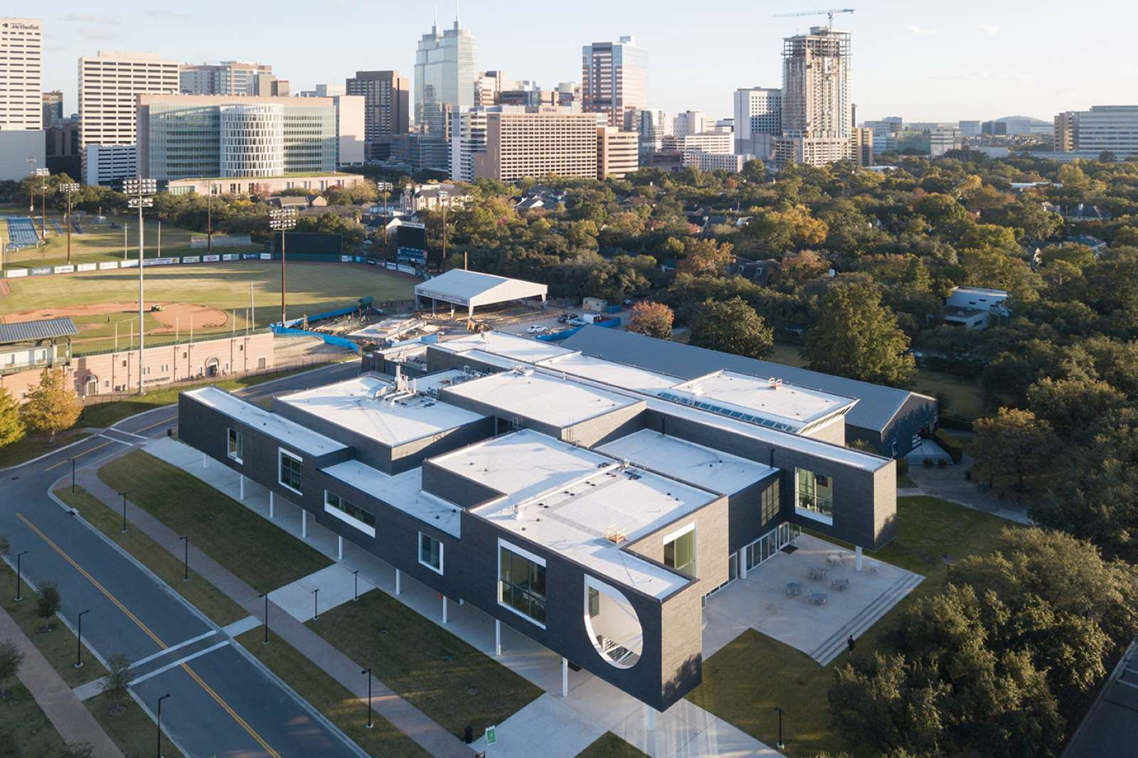 Moody Center for the Arts (aerial view). Photo: Iwan Baan