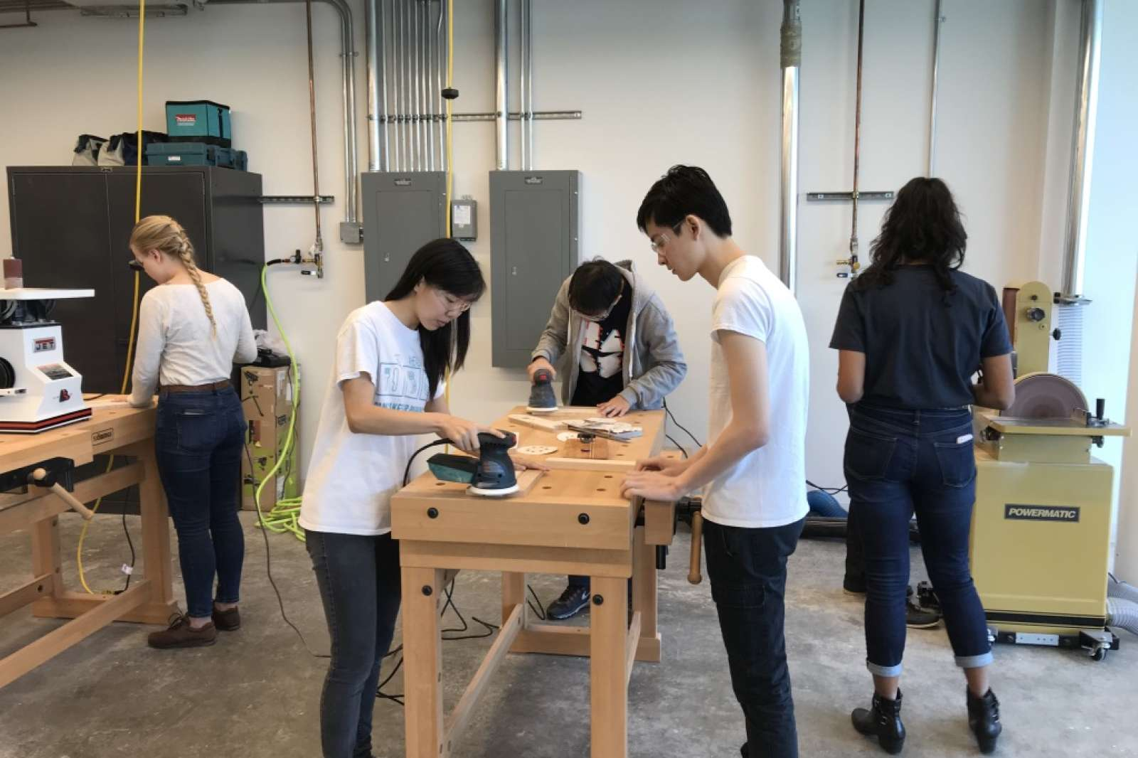 Rice students in the Moody Makerspace. Photo: David Krueger