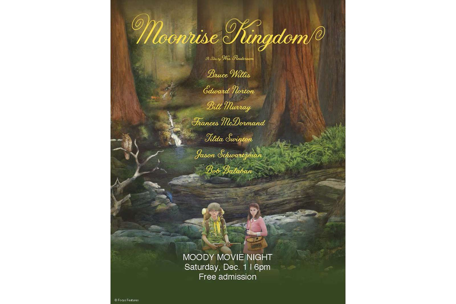 Moonrise Kingdom, 2012. Movie poster