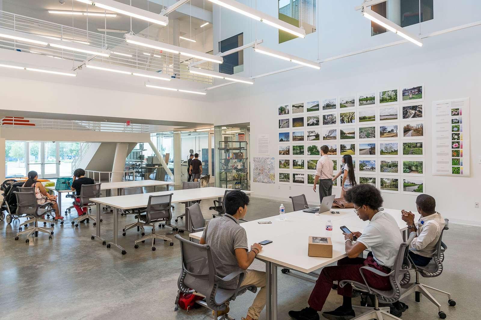 Students in the Creative Open Studio. Photo: Nash Baker.