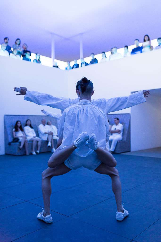 Dušan Týnek Dance Theatre, Dancers of Dušan Týnek Dance Theatre perform Vespertine Awakenings at the James Turrell Twilight Epiphany Skyspace at the Suzanne Deal Booth Centennial Pavilion at Rice University, 2017. Photo: Lynn Lane