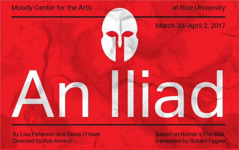 An Iiad, by Lisa Peterson and Denis O'Hare. Directed by Rob Kimbro. Starring Leon Ingulsrud as The Poet. Original music by Ben Morris
