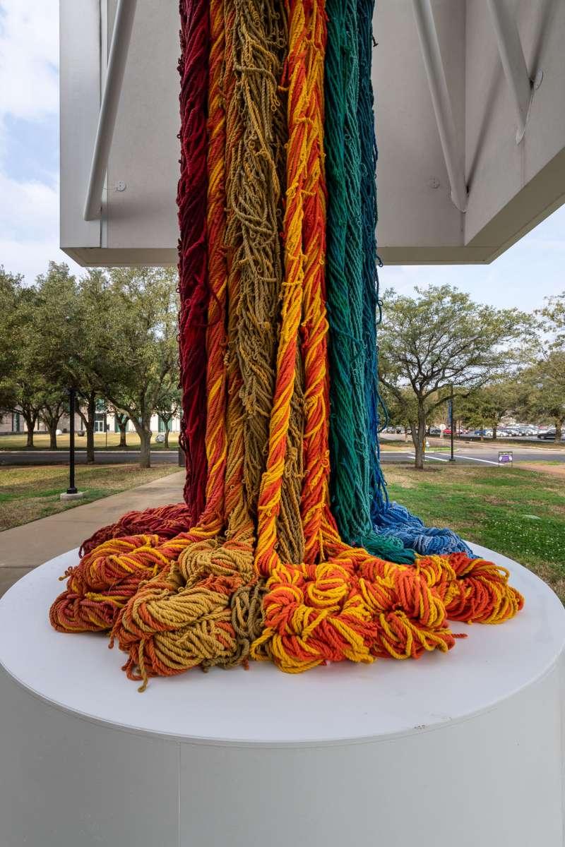 Sheila Hicks, 'The Questioning Column,' 2016. Acrylic fibers. Courtesy of the artist. Photo: Nash Baker