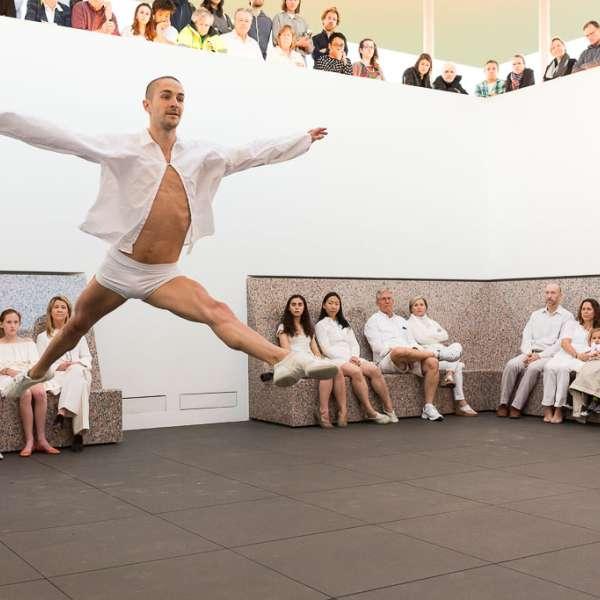 Dancers of Dušan Týnek Dance Theatre perform Vespertine Awakenings at the James Turrell Twilight Epiphany Skyspace