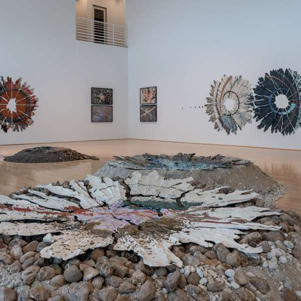 Installation view 'Brie Ruais: Movement at the Edge of the Land' Photo by Nash Baker