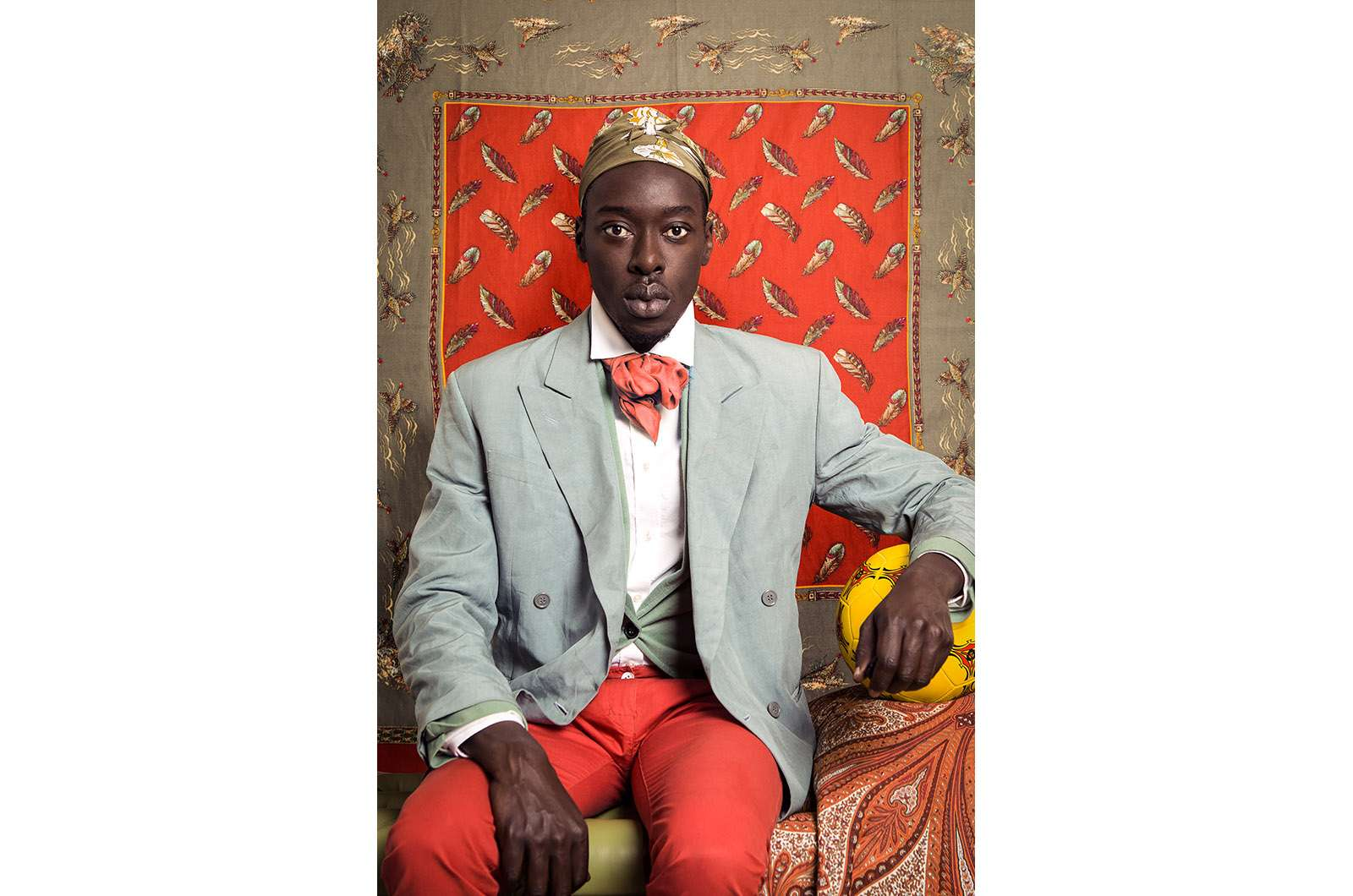 Omar Victor Diop, Omar Ibn Said, 2015. Série Diaspora Impression jet d'encre pigmentaire sur papier Harman By Hahnemuhle. © Omar Victor Diop. Courtesy Galerie MAGNIN-A, Paris.