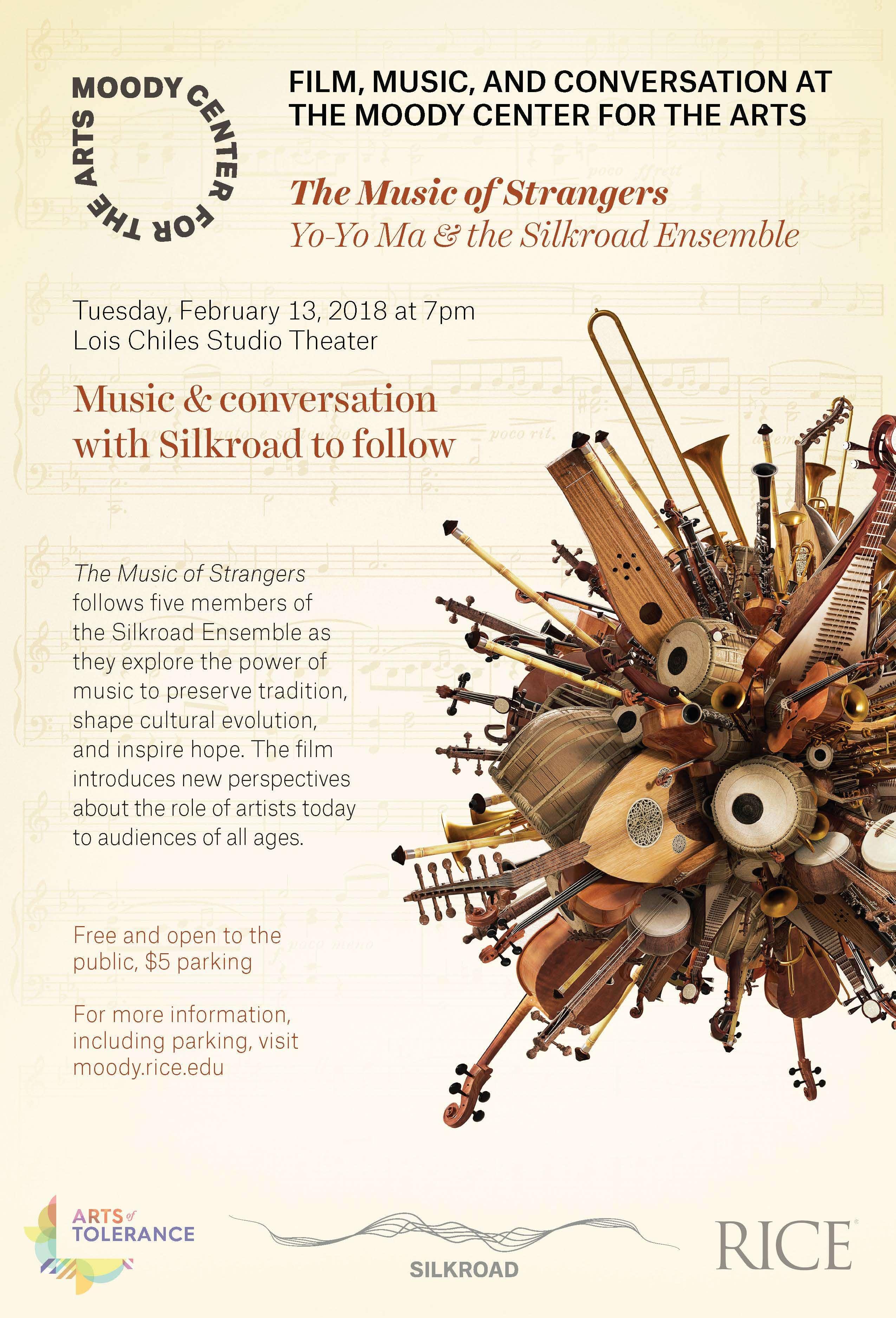 Movie poster for The Music of Strangers: Yo-Yo Ma & The Silk Road Ensemble